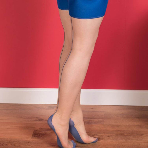 Seamed Stockings Blue Glamour, Lingerie, What Katie Did - Passionate Jade