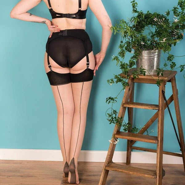 Seamed Stockings Champagne/Black, Lingerie, What Katie Did - Passionate Jade