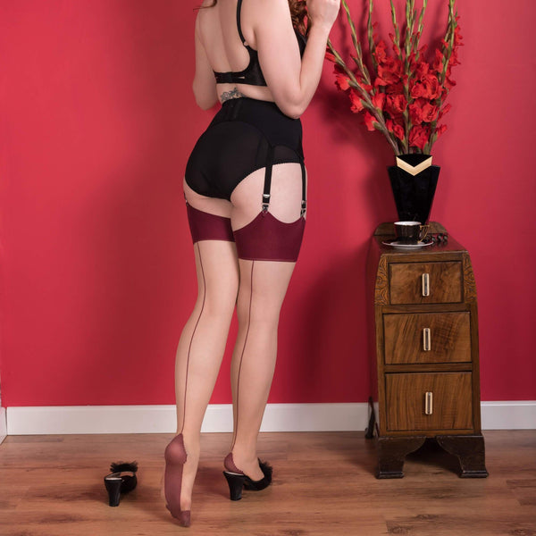 Seamed Stockings Claret Glamour, Lingerie, What Katie Did - Passionate Jade