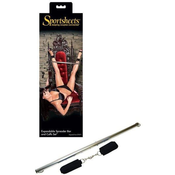 Spreader Bar and Cuffs Set, BDSM, Sportsheets - Passionate Jade