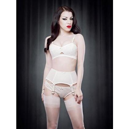 Van Doren Ivory Lace Knicker, Lingerie, Kiss Me Deadly - Passionate Jade