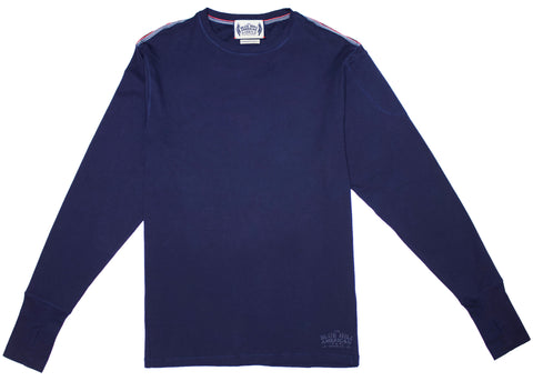 100% Pima Cotton Long Sleeve Crew Neck Tee