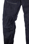 Men's Slim Adjustable Fit Dark Wash Selvedge Denim Jeans