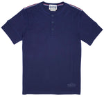100% Pima Cotton Short Sleeve Henley with Rib Sleeves
