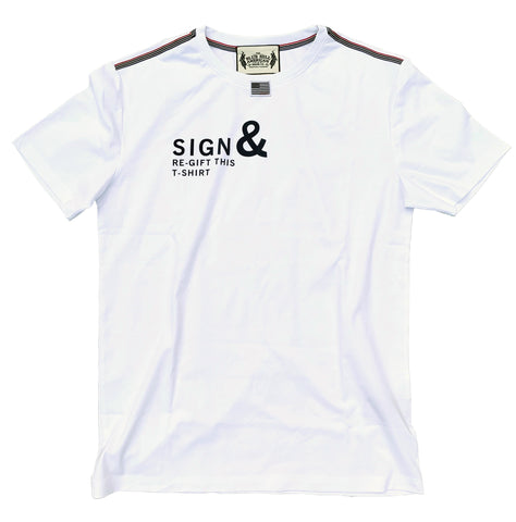 100% Pima Cotton Sign and Regift Tee - The Blue Hill American Denim Company.