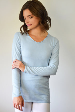 Organic Cotton V Neck Sweater