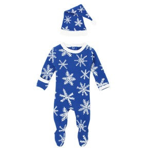 Organic Footie & Cap Set-Snow-Ho-Ho