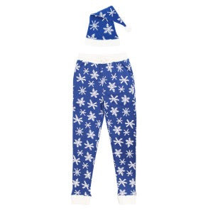 Organic Men's Holiday Joggers & Cap Set- Snow-Ho-Ho