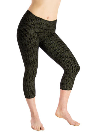 Malaya Yoga Tights- Honeycomb Flower Print