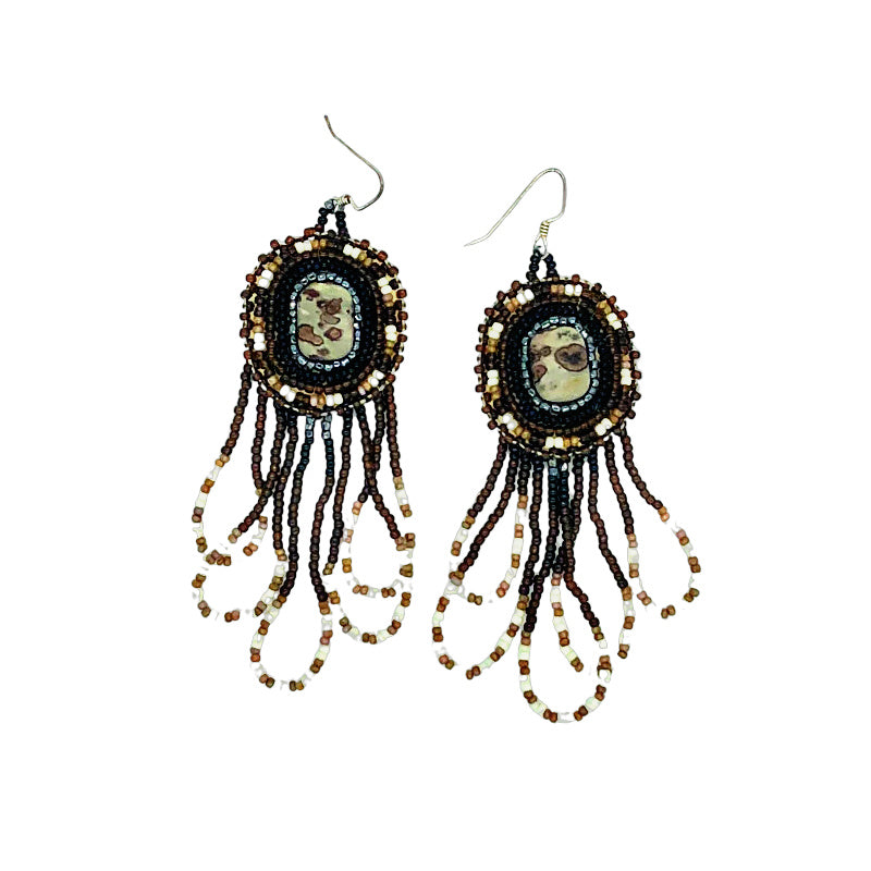 Beaded Earrings-Jasper