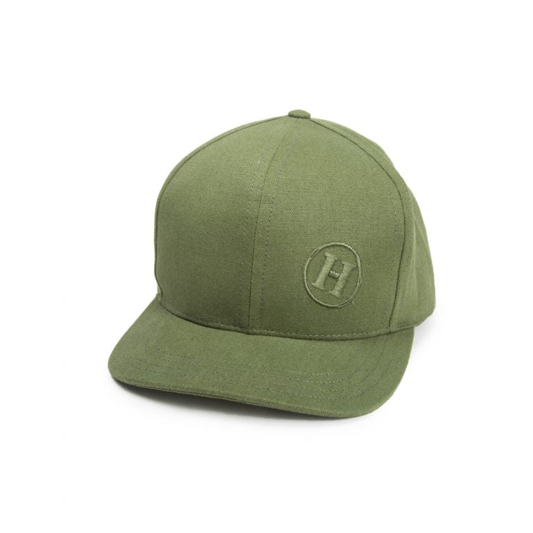 Hemp Flat Brimmed Baseball Cap With Secret Pocket
