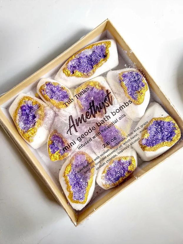 Amethyst Mini Geode Bath Bombs //  Tub Tonics