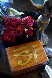 Eye of Horus Brass Inlay Box