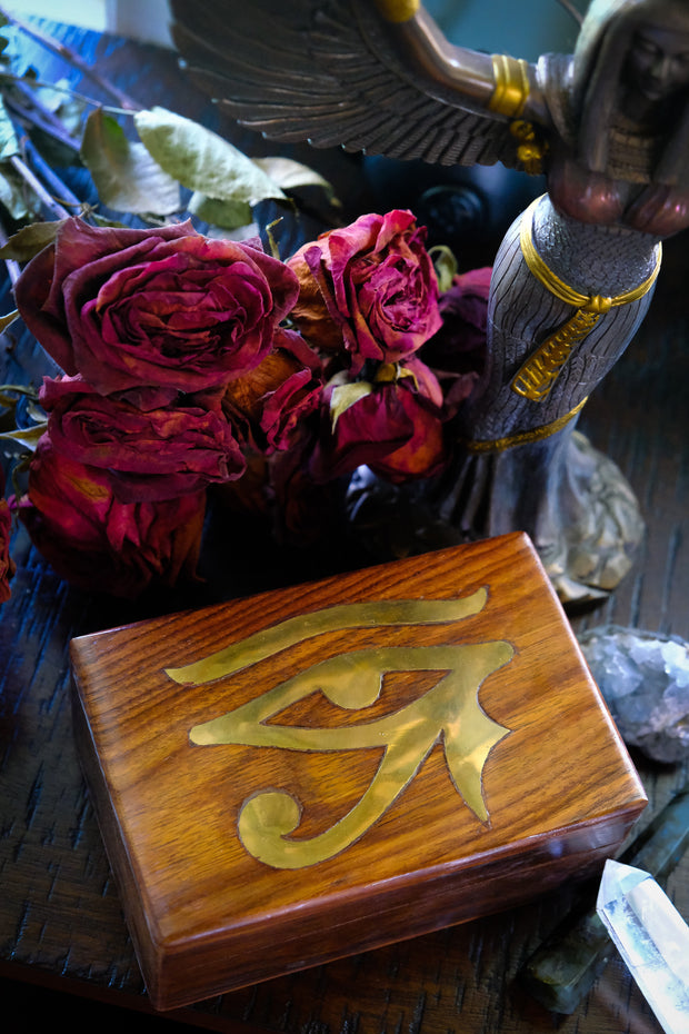 Eye of Ra Brass Inlay Box