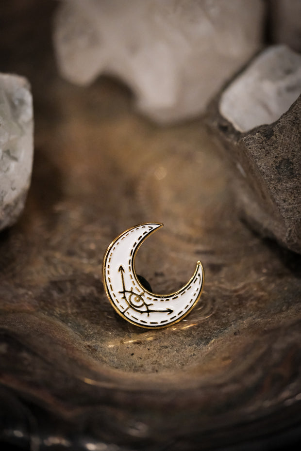 Eye of the Moon Enamel Pin