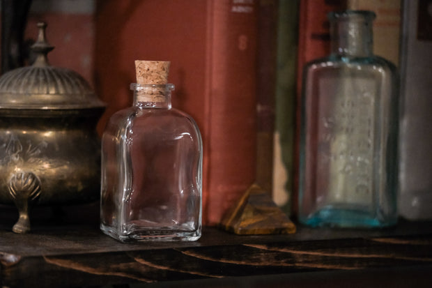 Roma Apothecary Bottle w/ Cork (Colored or Clear)