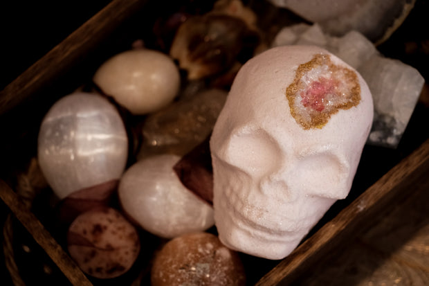 Rose Quartz Skull Bath Bomb // HEXED