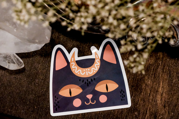 Cat Moon Decal