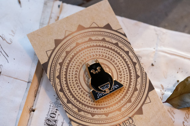 Ouija Kitty Enamel Pin by Tamed Wild