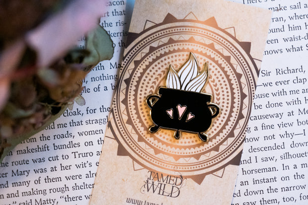 Cauldron of Passion Enamel Pin by Tamed Wild