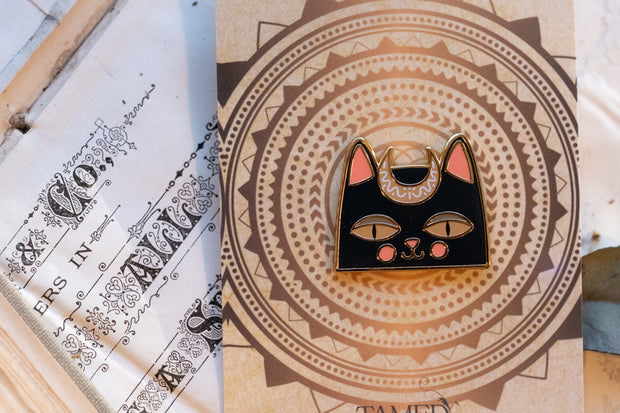 Goddess Kitty Enamel Pin by Tamed Wild