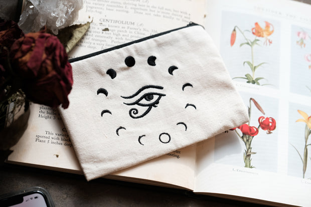 Eye of Horus Embroidered Bag