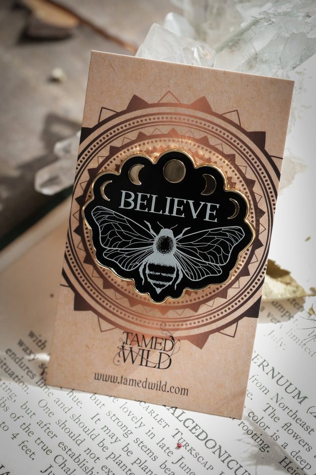 Believe Enamel Pin// Tamed Wild