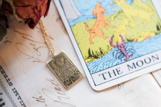 The Moon Tarot Pendant & Chain