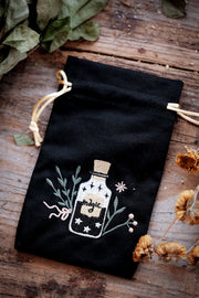 Magic Bottle Embroidered Tarot Bag