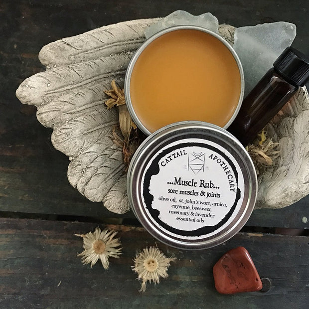 Warming Muscle Rub Salve by Cattail Apothhcary