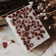 Red Jasper-Crystal Massaging Bath Bar  // Spirit Element