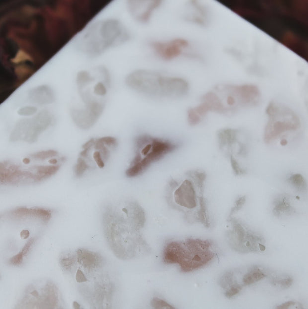 Rose Quartz-Crystal Massaging Bath Bar  // Spirit Element