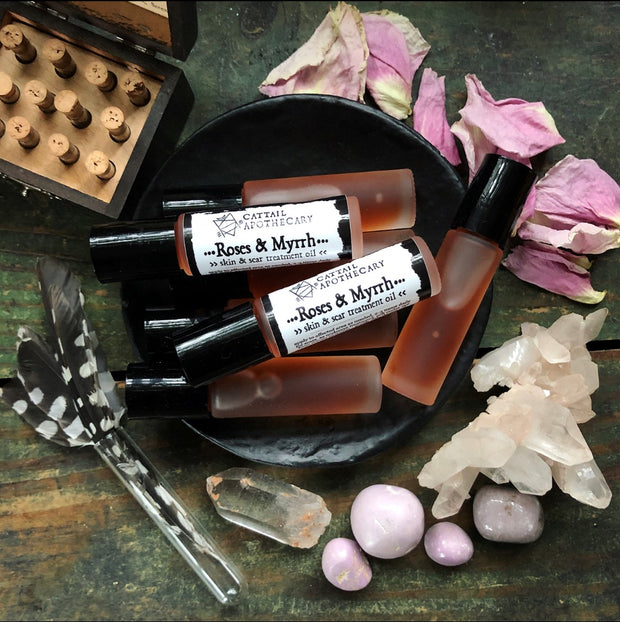 Roses & Myrrh // Soothing Skin and Scar Oil by Cattail Apothecary