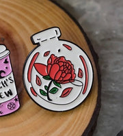 Rose Terrarium Enamel Pin