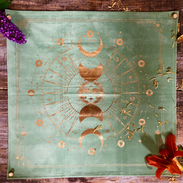 Sun & Moon Altar Cloth (Sage Green)
