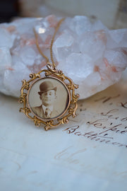 Victorian Mourning Photo Pendant
