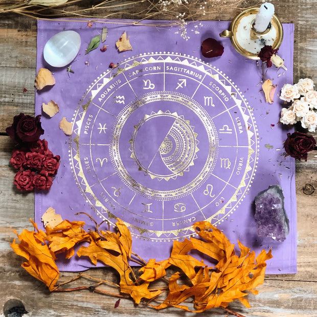 Lavender altar cloth