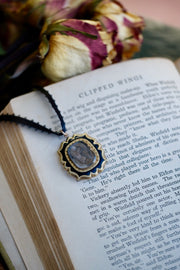 Lock of Hair Mourning Necklace- 2