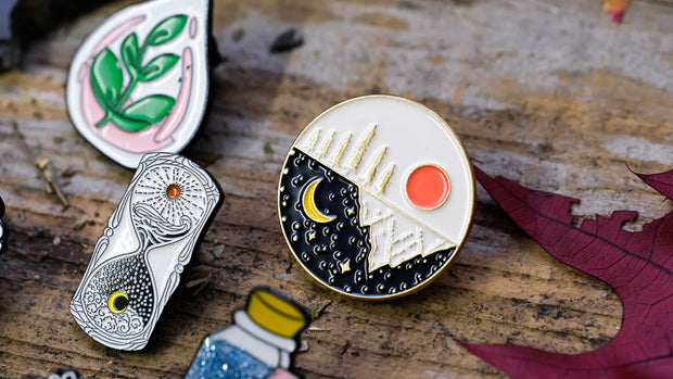 As Above, So Below Enamel Pin