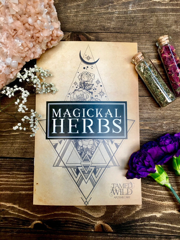 Front cover of the Magickal Herbs booklet