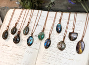 Labradorite Necklaces- Copper Wire Wrapped