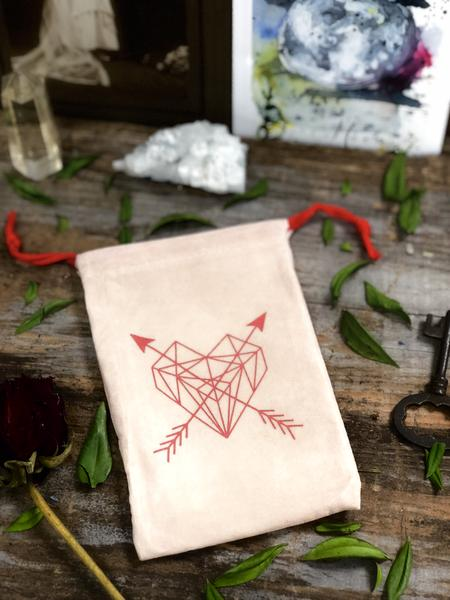 Mookaite in a Geometric Love Bag