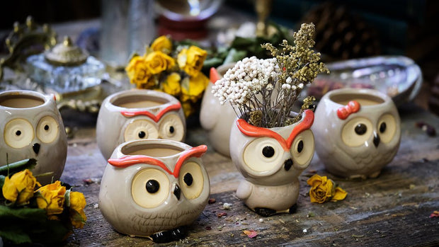 Multiple owl planters so show variants.