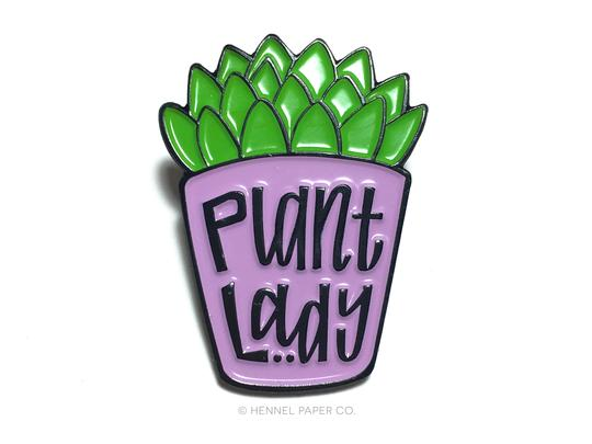 Plant Lady Enamel Pin x Hennel Paper Company