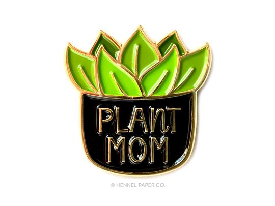 Plant Mom Enamel Pin x Hennel Paper Company