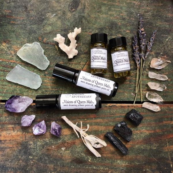 Visions of Queen Mab // Calm and Lucid Sleep Oil by Cattail Apothecary
