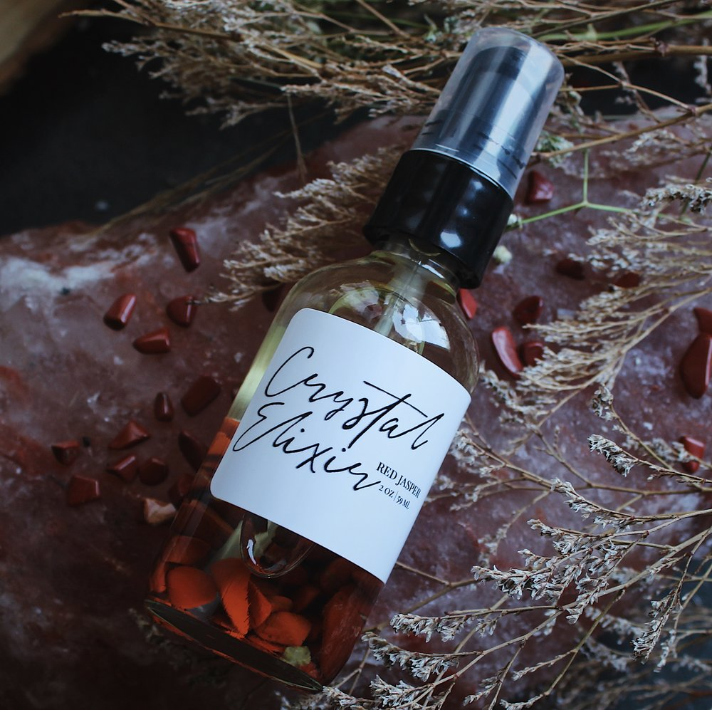 Crystal Elixir Body Oil Red Jasper // Spirit Element