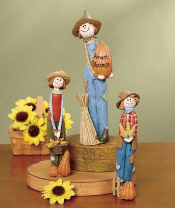 Holiday Scarecrow Figurine Set - My Home and Pet