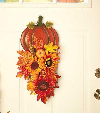 Holiday Door Decor Halloween or Thanksgiving - My Home and Pet