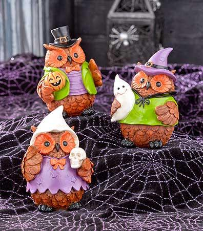 Holiday Halloween or Harvest Owls Set - My Home and Pet